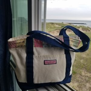Vineyard Vines Canvas Tote BEACH 🏝⛱